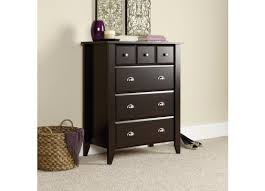 shoal creek dresser jamocha sauder shoal creek jamocha wood chest of drawers 409714