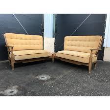 canape d angle bois canapé d angle en bois de chêne et tissu beige guillerme