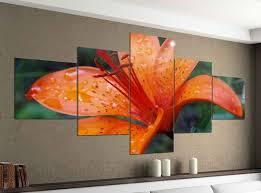 acrylglasbilder 5 teilig 200x100cm blume lilie orange blumen tigerlilie druck acrylbild acryl acrylglas bilder bild 14f078