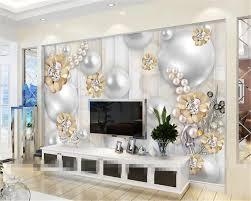beibehang nach tapeten 3d luxus perle blumen hintergrund tapete wohnzimmer schlafzimmer wandmalereien tapete für wände 3 d