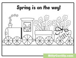 Printable Spring Is On The Way Coloring Page