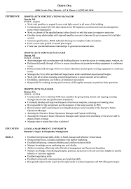 Download Hospitality Manager Resume Sample As Image File