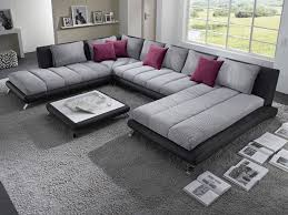 canape angle panoramique canapé d angle panoramique gris et noir luberon 5 hcommehome