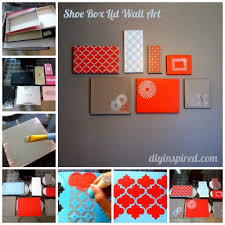 DIY Shoe Box Lid Wall Art Decoration How To Instructions
