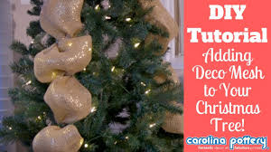 Decorating Your Tree With Deco Mesh Ribbon