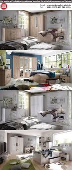 komfort schlafzimmer luca in pinie weiß und trüffel 3 teilig
