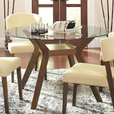 Round Glass Dining Table Room Decorations