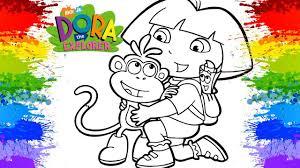 ONLINE COLORING Dora Coloring Games The Explorer Free Kids Nick Jr KOKI DISNEY