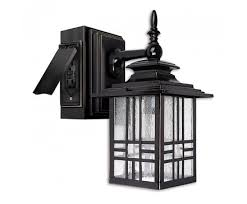 13 mission style wall lantern with built in electrical outlet