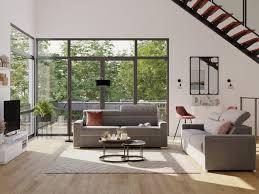 schlafsofa 4 sitzer stoff vizir grau liegefläche 160 cm matratzenhöhe 18cm