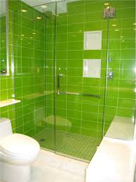 bathroom appealing green bathroom designs with green shower tiles