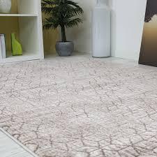 wohnzimmer teppich rautenmuster braun beige 3d optik tt022