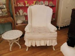 White Ruffle Wing Back Chair Shabby Chic Chenille Bedsprea… | Flickr Chair Covers And Sashes Blue French Slipcovers Cedar Hill Farmhouse Ding Room Also Chair Ottoman Slipcovers Spandex Stretch Elastic Cloth Ruffled Washable White Oversized Best Home Decoration Country Linen Seat Cover With Ruffle Decor Slipcover For Parson Chairs Create Awesome Junk Chic Cottage Happy Sundayahaaa This Is Exactly The Slip By Paulaanderika On Etsy 9000 100 Ruched Fashion Embossed Spandex Ruffled Covers Buckle Wedding
