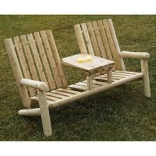Rustic Natural Cedar Furniture CompanyR Log Garden Loveseat