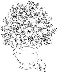 Stunning Flower Bouquet Coloring Pages s Wedding Dresses