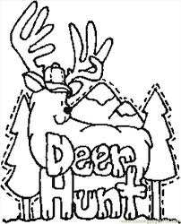 Coloring Pages Deer Hunt Entertainment Others
