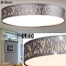 led deckenle rund textil grau silber d 40 cm tarok