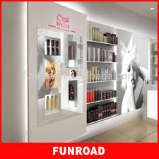 Antique Furniture Beauty Salon Display Design With Makeup Cabinet And Wooden Shelf Stand For Mall Kiosk