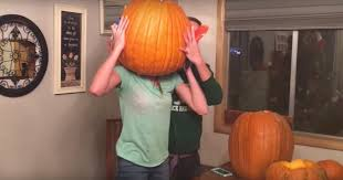 Largest Pumpkin Ever Carved by Gets Head Stuck In Pumpkin Savage Family Laughs