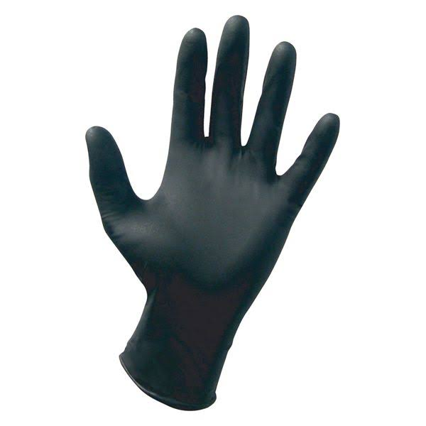 SAS Safety Raven Powder-Free Disposable Gloves - Extra Large, 100 Gloves, Black Nitrile, 6 Mil