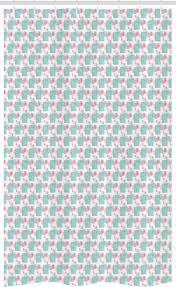 abakuhaus duschvorhang badezimmer deko set aus stoff mit haken breite 120 cm höhe 180 cm rosa und blau moderne rectangles kaufen otto
