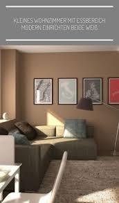 kleines wohnzimmer mit essbereich modernes dekor beige weiß
