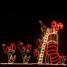 outdoor decoration animated elf and stocking outdoor christmas
