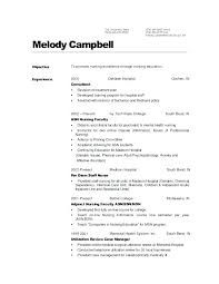 Sample Of Nursing Resume Med Resumes Home Nurse Example Examples For
