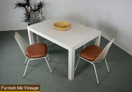 Vintage White Parsons Dining Table Or Desk