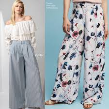 Sew The Look Vogue Patterns V9257 Wideleg Pants Sewing Pattern