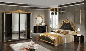 schlafzimmer nadir in schwarz gold 6 türig luxus
