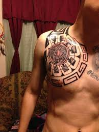 Mexican Tribal Shoulder Tattoos