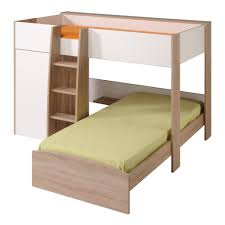 white l shaped bunk beds with stairs parisot magellan l shaped