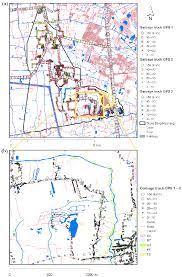 100 Gps With Truck Routes A Waste Collection Routes Of Oboto Garbage Trucks B Detailed