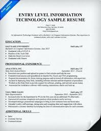 Skills In Information Technology Resume Examples No Experience Template