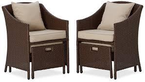 Patio Furniture With Hidden Ottoman by 26 Wonderful Patio Chairs With Slide Under Ottomans Pixelmari Com