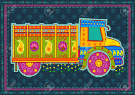 100 Truck Design Vector Of Of India In Indian Art Style Royalty Free