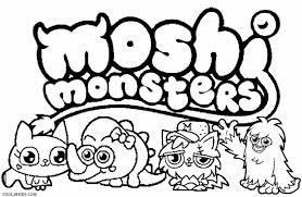 Printable Moshi Monsters Coloring Pages Kids Cool Bkids