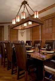 ski slope chandelier rustic dining room sacramento by high