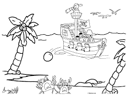 Coloring Pages Printable Kids Pirate Themed Book Activities Awesome Good Looking Crabs Surreal Silly Picture