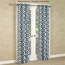 Geometric Pattern Grommet Curtains by Grommet Curtains And Tab Top Panels Touch Of Class