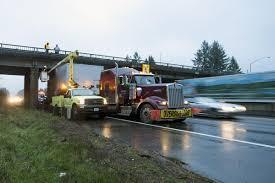 100 Stuck Truck Inspectors Assess Damage As Semi Under SR 506 Overpass Crime