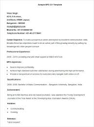 Template Of Resume For Job Sample Cv Application