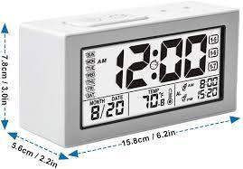 fappen digital wecker uhr mit großer display datum und