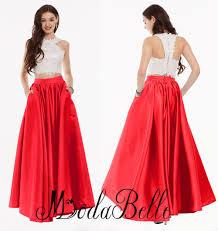 aliexpress com buy red lace junior prom dresses 2 piece prom