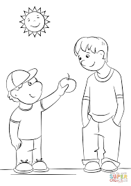 Click The Showing Kindness Coloring Pages To View Printable Version Or Color It Online Compatible With IPad And Android Tablets