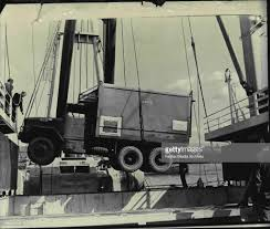 100 Trucks Are Us Ten Ton US Army Trucks Are Unloaded From The US Freighter