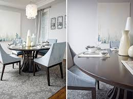 Modern Round Dining Table With Casual Centerpiece