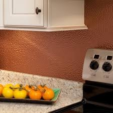 Copper Tiles For Backsplash by Hammered Red Copper Accent Tiles Set Of 4 Free Shipping On