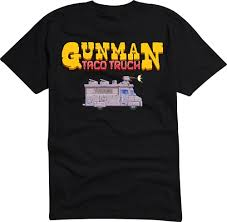 Gunman Taco Truck T-shirt — Romero Games Ltd. Toddler Tonka Truck Red Tshirt Intertional Lonestar T Shirt Ih Gear The Peach Youth Sizes Now Available Amazoncom Hot Shirts Ford Classic Trucks White Pickup F Ipdent My Name Is Gonzales Longsleeve Black Pick Up Muscle Car Rod Monkey Mens Summer Fire Gift Camel Towing Men Funny Tow Idea College Party American Simulator Tshirt White Scs Software Btg Cross Skate Skate Clothing Co